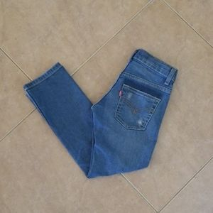 Boys Levis Distressed Blue Jeans